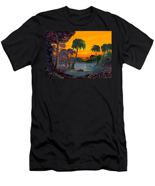 Tahitian Sunset Men's T-Shirt (Slim Fit) by Glenn Holbrook