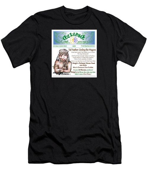 Real Fake News Circling The Wagons Column 1 Men's T-Shirt (Athletic Fit)