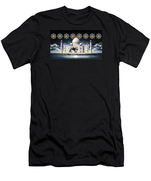 Men's T-Shirt (Slim Fit) featuring the digital art Taj by Scott Ross