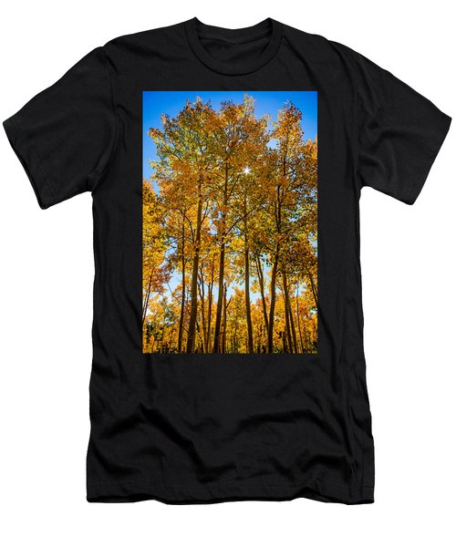 Tall Aspen With Sunstar Men's T-Shirt (Athletic Fit)
