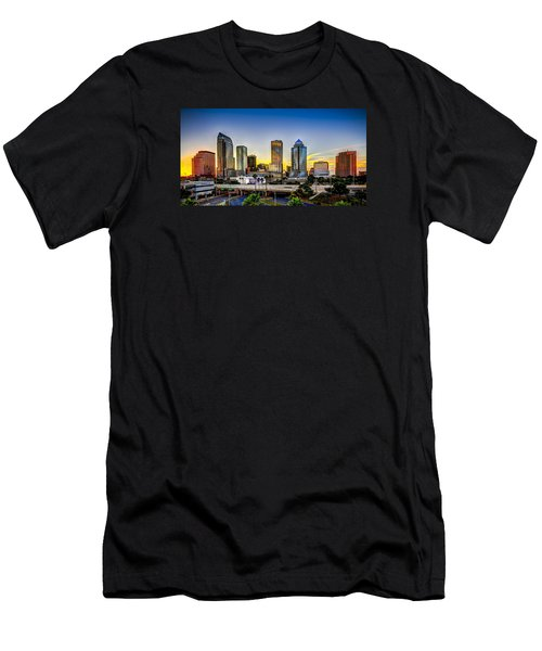 Tampa Skyline Men's T-Shirt (Slim Fit) by Marvin Spates