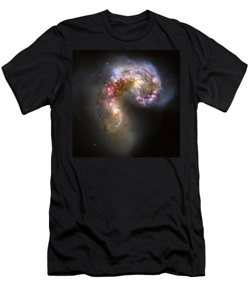 Tangled Galaxies Men's T-Shirt (Athletic Fit)