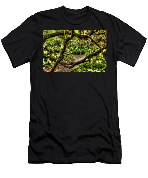 Men's T-Shirt (Athletic Fit) featuring the photograph Tangled Path by Tyson Kinnison