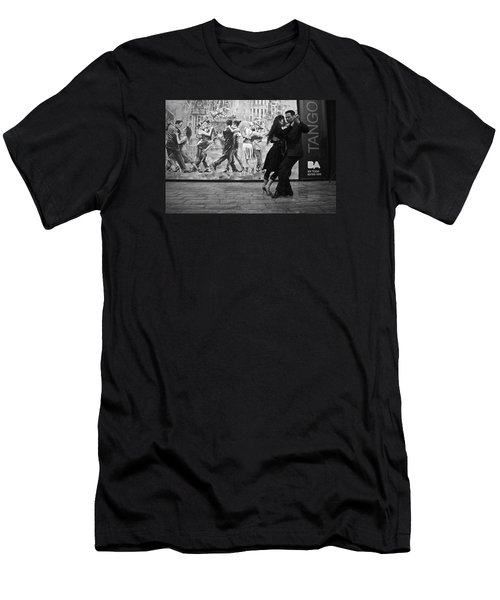 Tango Dancers In Buenos Aires Men's T-Shirt (Slim Fit) by Venetia Featherstone-Witty
