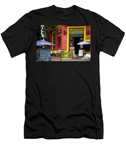 Tango Dancing In La Boca Men's T-Shirt (Athletic Fit)