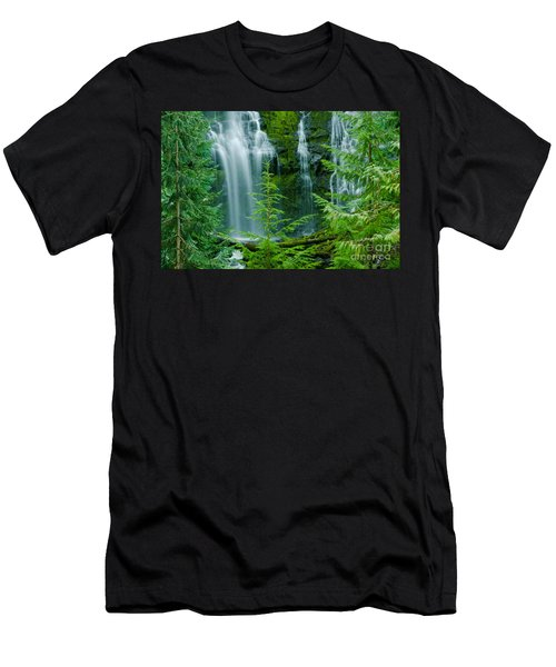 Pacific Northwest Waterfall Men's T-Shirt (Athletic Fit)