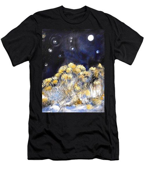 Taos Night Orbs Men's T-Shirt (Athletic Fit)