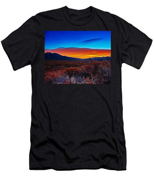 Taos Sunrise X Men's T-Shirt (Athletic Fit)
