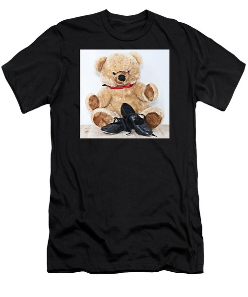 Tap Dance Shoes And Teddy Bear Dance Academy Mascot Men's T-Shirt (Athletic Fit)