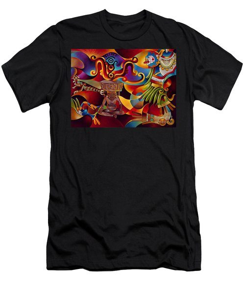 Tapestry Of Gods - Huehueteotl Men's T-Shirt (Athletic Fit)