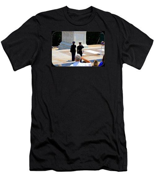 Taps At The Tomb Of The Unknown Men's T-Shirt (Slim Fit) by Patti Whitten