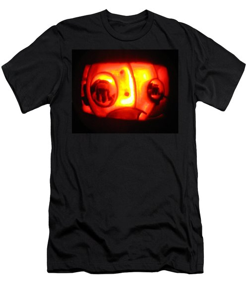 Men's T-Shirt (Slim Fit) featuring the sculpture Tarboy Pumpkin by Shawn Dall