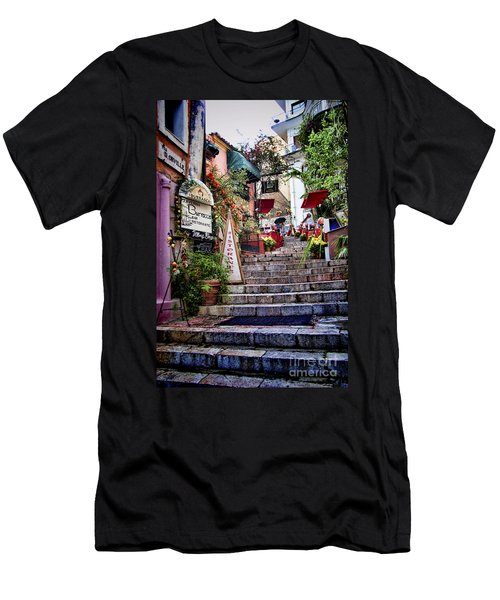 Taormina Steps Sicily Men's T-Shirt (Slim Fit) by David Smith