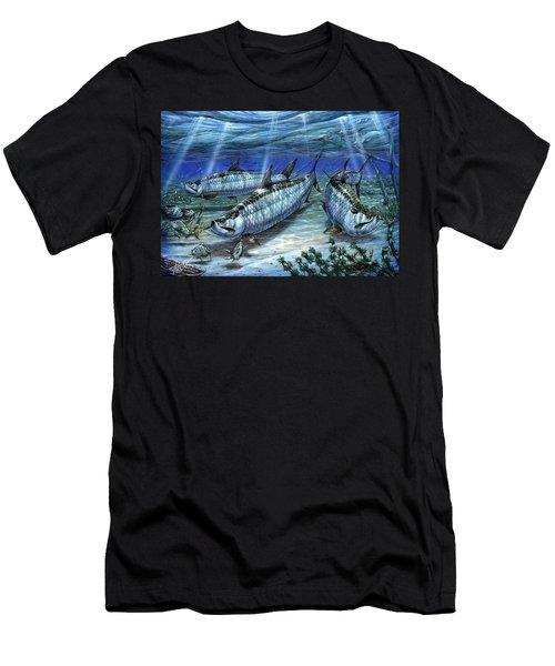 Tarpon In Paradise - Sabalo Men's T-Shirt (Athletic Fit)