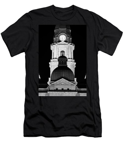 Tarrant County Courthouse Bw V1 020815 Men's T-Shirt (Athletic Fit)