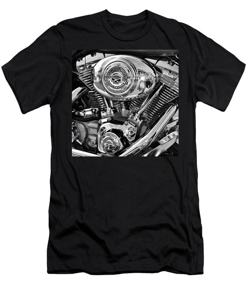 V-twin Black Men's T-Shirt (Athletic Fit)