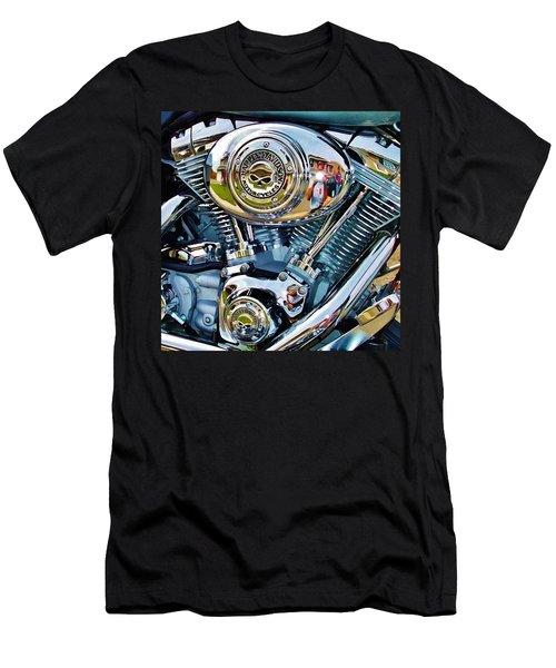 V-twin Blue Men's T-Shirt (Athletic Fit)