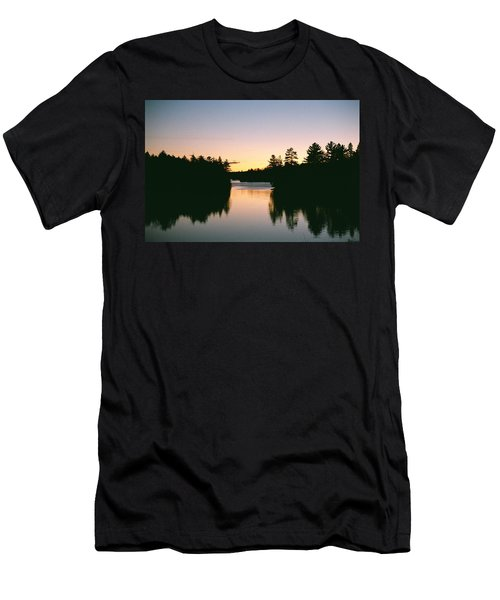 Tea Lake Sunset Men's T-Shirt (Slim Fit) by David Porteus