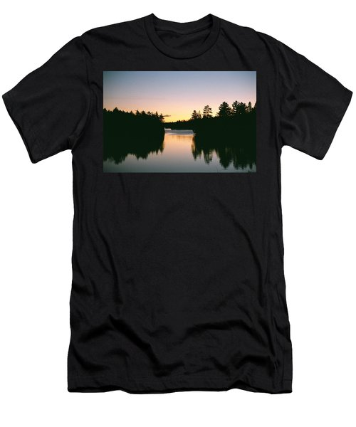 Tea Lake Sunset Men's T-Shirt (Athletic Fit)