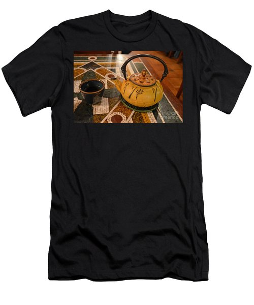 Men's T-Shirt (Slim Fit) featuring the photograph Tea Time In Asia by Robert Meanor