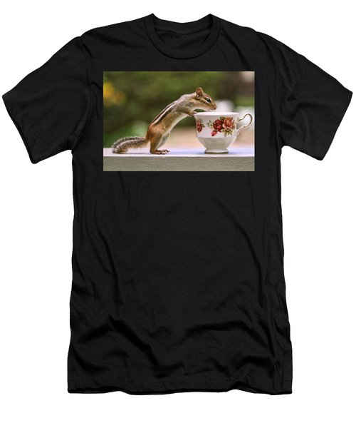 Tea Time With Chipmunk Men's T-Shirt (Athletic Fit)