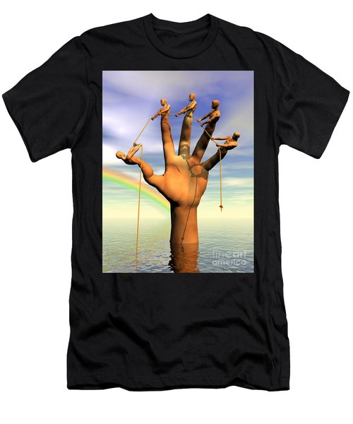 The Hand Is The Sum Of Its Fingers Men's T-Shirt (Athletic Fit)