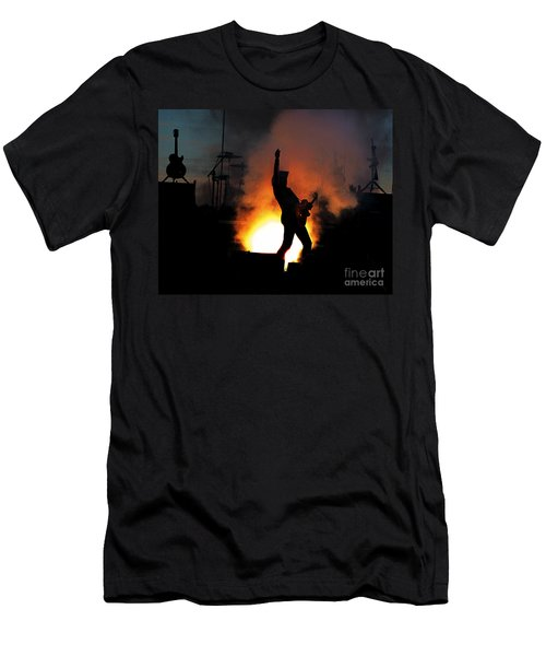 Ted Nugent On Fire Men's T-Shirt (Athletic Fit)