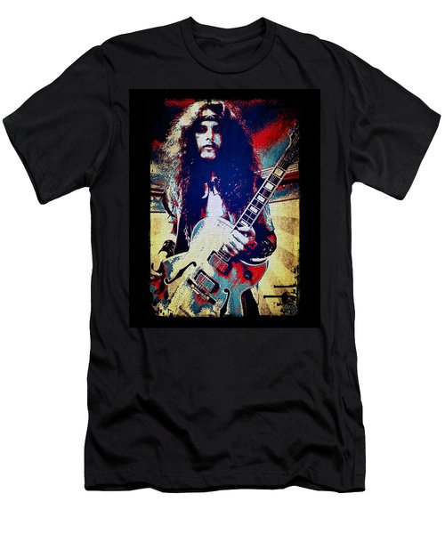 Ted Nugent - Red White And Blue Men's T-Shirt (Slim Fit) by Absinthe Art By Michelle LeAnn Scott
