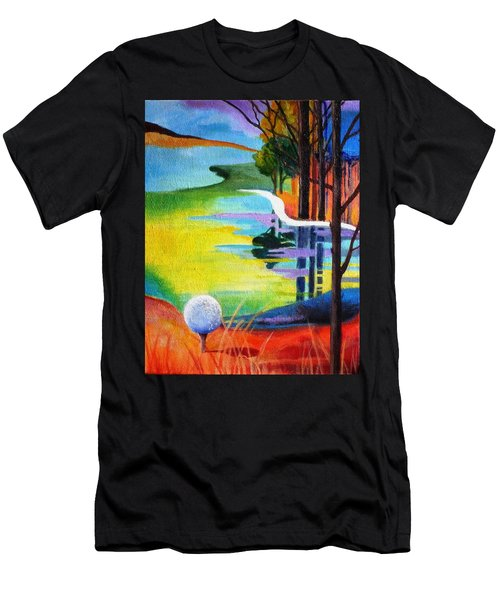 Tee Off Mindset- Golf Series Men's T-Shirt (Slim Fit) by Betty M M   Wong
