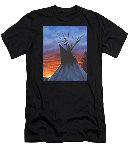 Teepee At Sunset Part 2 Men's T-Shirt (Athletic Fit)