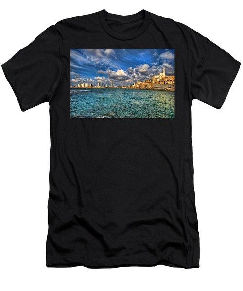 Tel Aviv Jaffa Shoreline Men's T-Shirt (Athletic Fit)