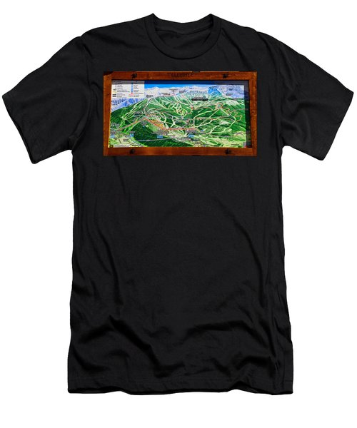 Telluride Ski Map Detail  Men's T-Shirt (Athletic Fit)