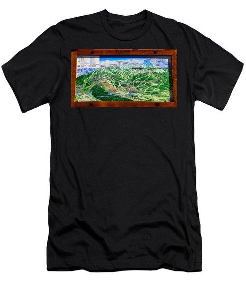 Telluride Ski Map Detail  Men's T-Shirt (Slim Fit) by David Lee Thompson