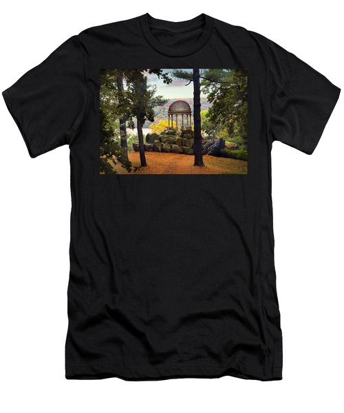 Temple Of Love In Autumn Men's T-Shirt (Athletic Fit)