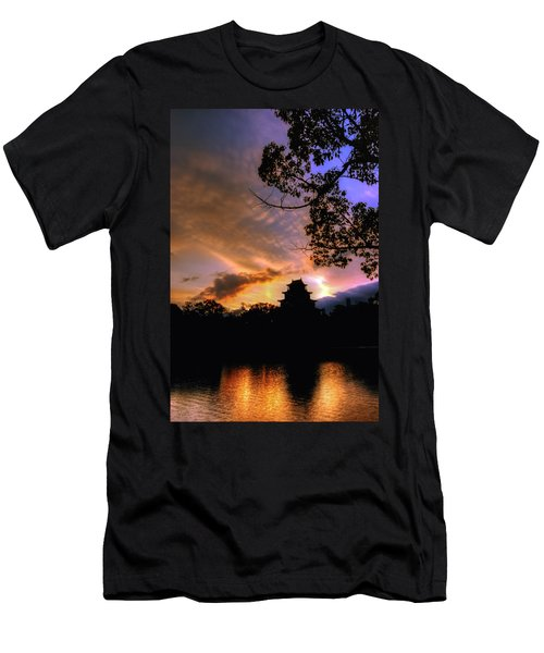 A Temple Sunset Japan Men's T-Shirt (Athletic Fit)