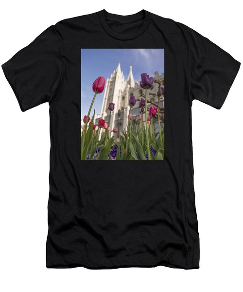Temple Tulips Men's T-Shirt (Athletic Fit)