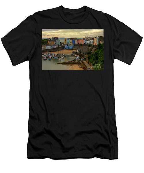 Tenby Harbour In The Morning Men's T-Shirt (Athletic Fit)