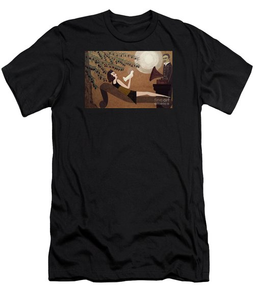Tesla And White Dove Men's T-Shirt (Athletic Fit)
