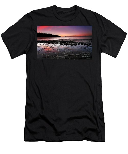 Men's T-Shirt (Slim Fit) featuring the photograph Tesselated Pavement Sunrise by Bill  Robinson