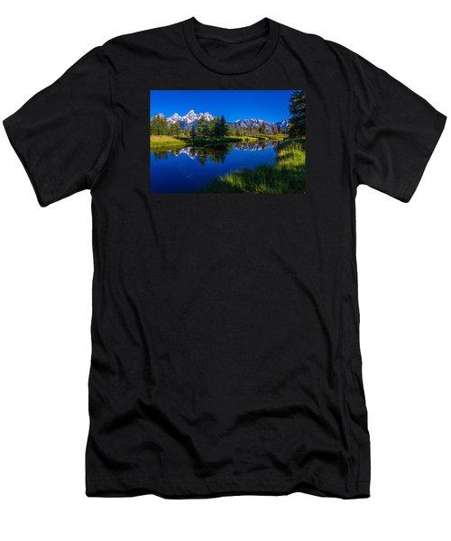 Teton Reflection Men's T-Shirt (Slim Fit) by Chad Dutson