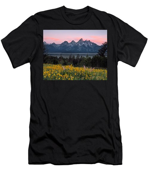 Teton Spring Men's T-Shirt (Slim Fit) by Leland D Howard