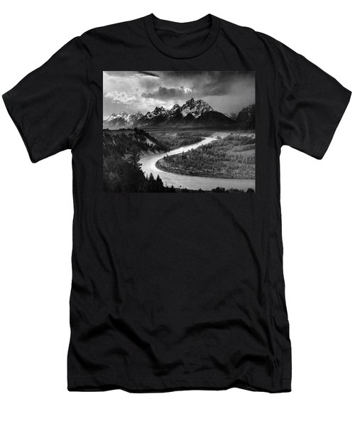 Tetons And The Snake River Men's T-Shirt (Athletic Fit)