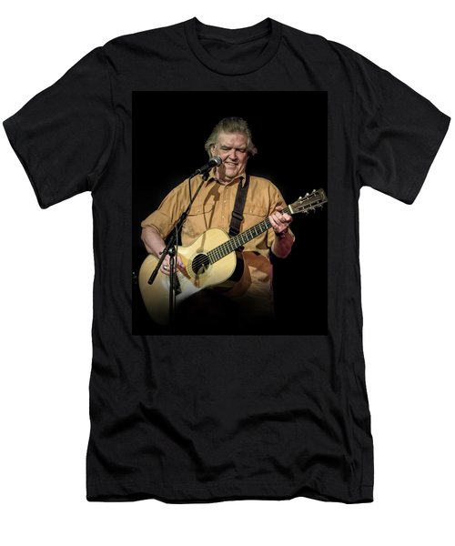 Texas Singer Songwriter Guy Clark In Concert Men's T-Shirt (Athletic Fit)