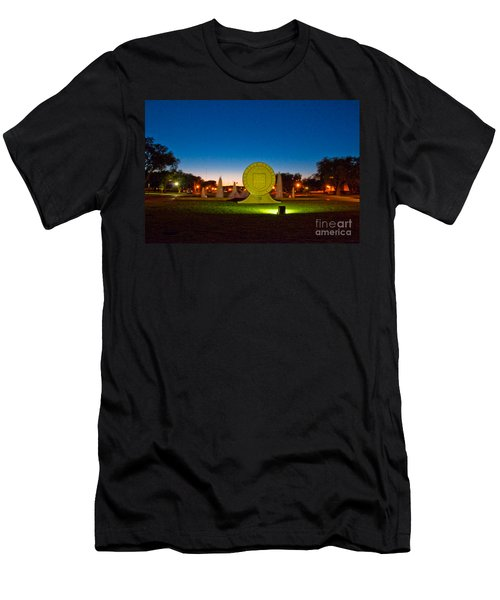 Men's T-Shirt (Athletic Fit) featuring the photograph Texas Tech Seal At Night by Mae Wertz