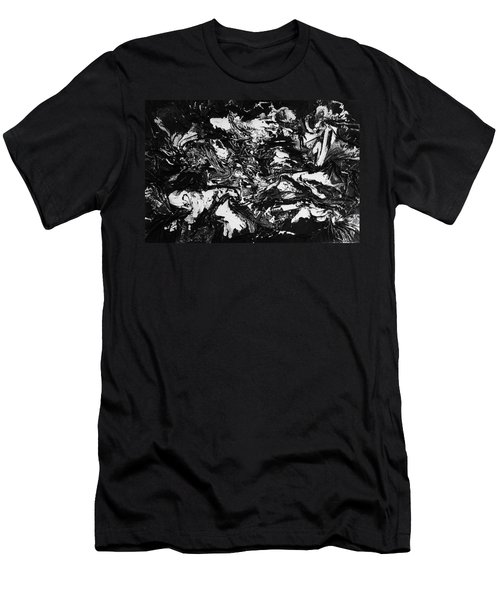 Textured Black And White Series 1 Men's T-Shirt (Athletic Fit)