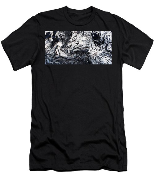 Textured Black And White Series 2 Men's T-Shirt (Athletic Fit)