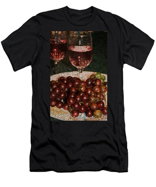 Textured Grapes Men's T-Shirt (Athletic Fit)