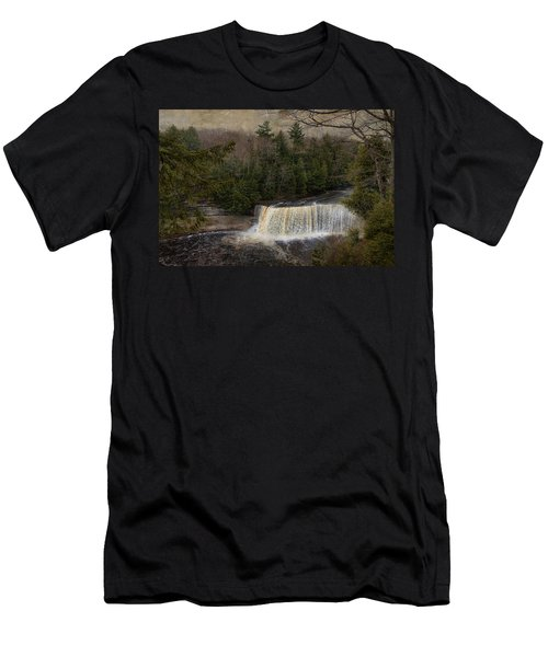 Textured Tahquamenon River Michigan Men's T-Shirt (Athletic Fit)