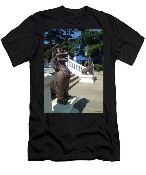 Thai Temple Steps Men's T-Shirt (Athletic Fit)