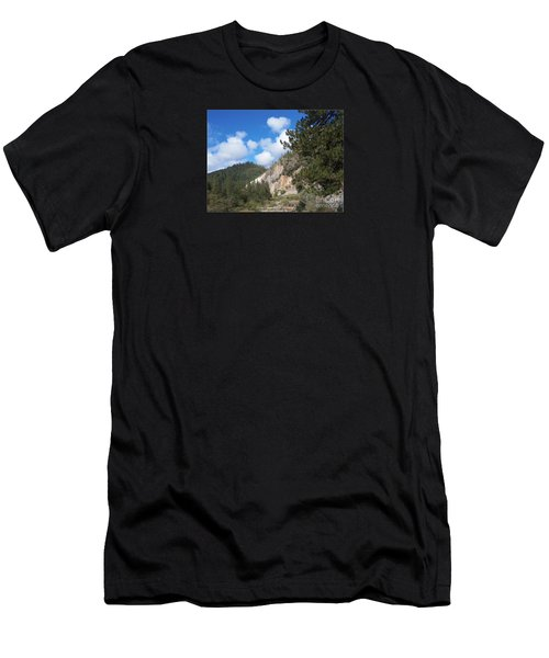 Clouds Of Hearts Men's T-Shirt (Slim Fit) by Bobbee Rickard